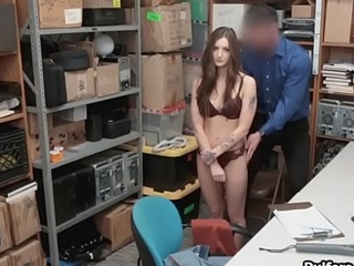 Blue eyed tattooed hot thief blows cock