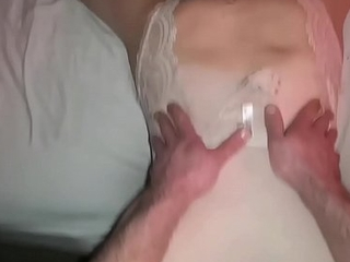 Young Mom has big juicy ass plugged and is fucked in pussy until she cums